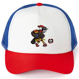 Seams Wild Football Trucker Hat - Woodwind