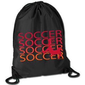 Soccer Sport Pack Cinch Sack Soccer Fade