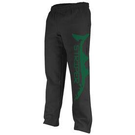 Fly Fishing Fleece Sweatpants Striper Silhouette