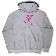 Girls Lacrosse Hooded Sweatshirt - Neon Lax Girl
