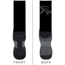 Football Printed Mid-Calf Socks - Linebacker