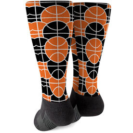 Basketball Printed Mid-Calf Socks - You're Surrounded