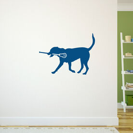 Guys Lacrosse Removable ChalkTalkGraphix Wall Decal - Max the Lax Dog