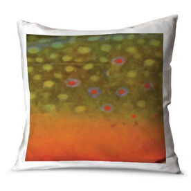 Fly Fishing Throw Pillow Brook Trout
