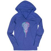 Girls Lacrosse Lightweight Performance Hoodie Lacrosse Stick Heart