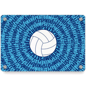 Volleyball Metal Wall Art Panel - Mantra Spiral