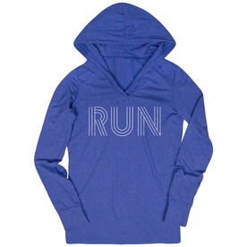 Women's Running Lightweight Performance Hoodie - Run Lines
