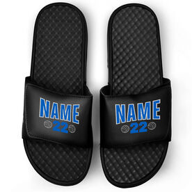 Volleyball Black Slide Sandals - Player Name and Number