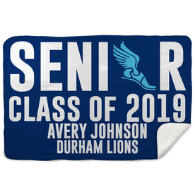 Cross Country Sherpa Fleece Blanket - Personalized Senior Class Of