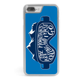 Skiing & Snowboarding iPhone® Case - The Mountains Are Calling Goggles