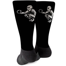 Softball Printed Mid-Calf Socks - Catcher