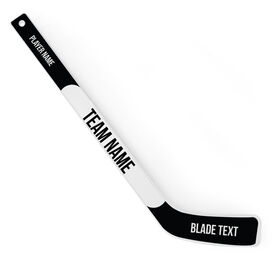 Personalized Knee Hockey Player Stick Text