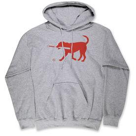 Baseball Hooded Sweatshirt - Buddy The Baseball Dog