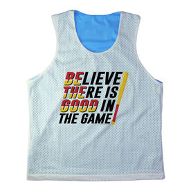 Girls Softball Racerback Pinnie Personalized Believe There Is Good In The Game