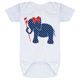 Crew Baby One-Piece - Crew Elephant with Bow