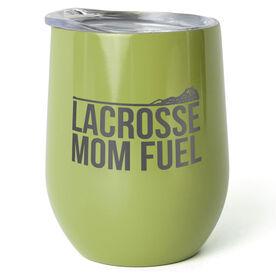 Girls Lacrosse Stainless Steel Wine Tumbler - Lacrosse Mom Fuel