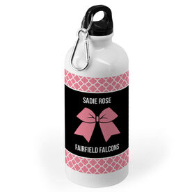 Cheerleading 20 oz. Stainless Steel Water Bottle - Cheer Squad with Bow