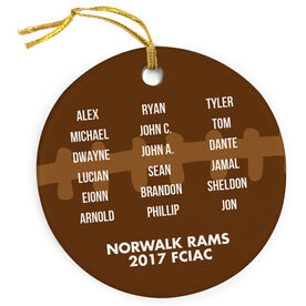 Football Porcelain Ornament Personalized Team Roster