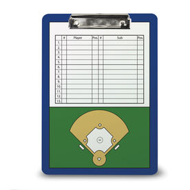 Softball Custom Clipboard Softball Roster And Field