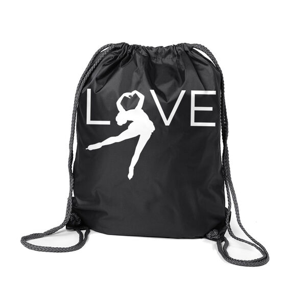Figure Skating Sport Pack Cinch Sack - Love
