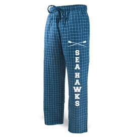 Crew Lounge Pants Team Name With Crossed Oars