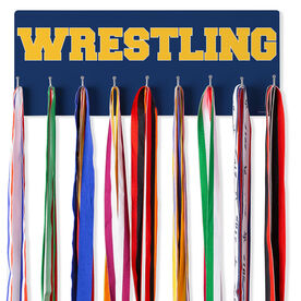 Wrestling Hooked on Medals Hanger - Word