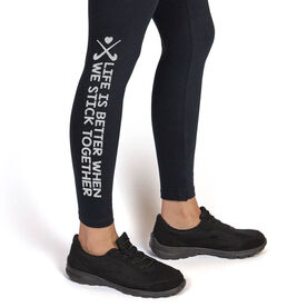 Field Hockey Leggings Stick Together