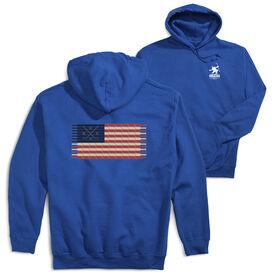 Hockey Hooded Sweatshirt - Hockey Laces Flag (Logo Collection)
