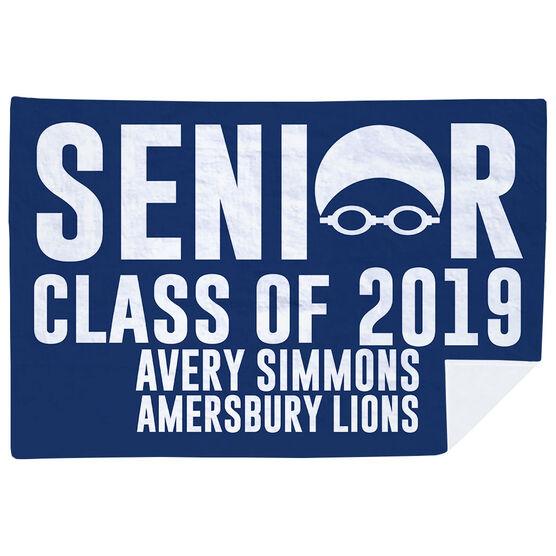 Swimming Premium Blanket - Personalized Swimming Senior Class Of