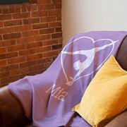 Gymnastics Premium Blanket - Personalized Heart Gymnast