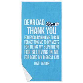 Track & Field Premium Beach Towel - Dear Dad