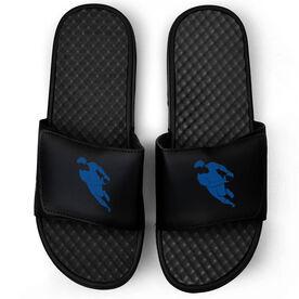 Rugby Black Slide Sandals - Rugby Player