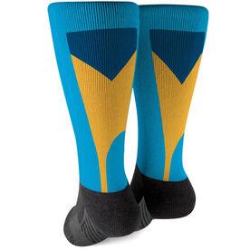 Crew Printed Mid-Calf Socks - Oars Colors