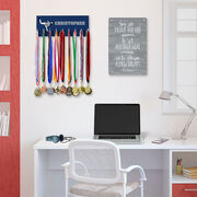 Baseball Hooked on Medals Hanger - Personalized Player Pitcher