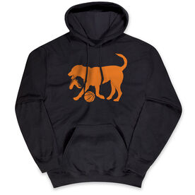 Basketball Hooded Sweatshirt - Basketball Dog