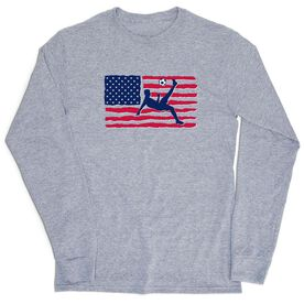 Soccer Tshirt Long Sleeve - Guys Soccer Land That We Love