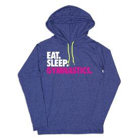 Women's Gymnastics Lightweight Hoodie - Eat Sleep Gymnastics