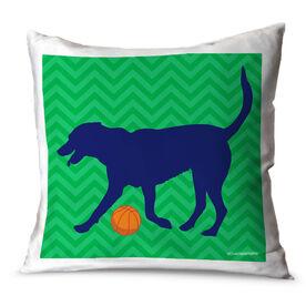 Basketball Throw Pillow Bailey The Basketball Dog