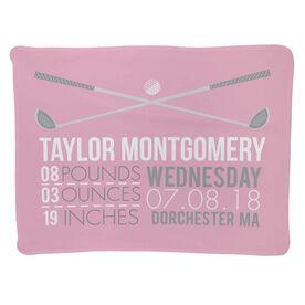 Golf Baby Blanket - Birth Announcement