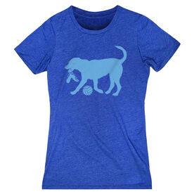 Volleyball Women's Everyday Tee - Holly The Volleyball Dog
