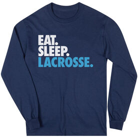 Lacrosse Long Sleeve T-Shirt - Eat. Sleep. Lacrosse.