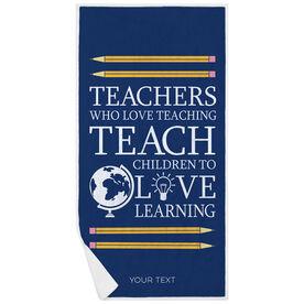 Personalized Premium Beach Towel - Love Teaching