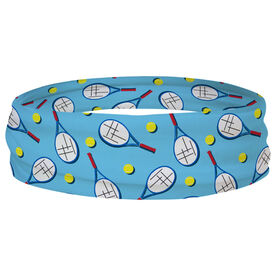 Tennis Multifunctional Headwear - Racket and Ball Pattern RokBAND
