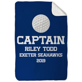Golf Sherpa Fleece Blanket - Personalized Captain