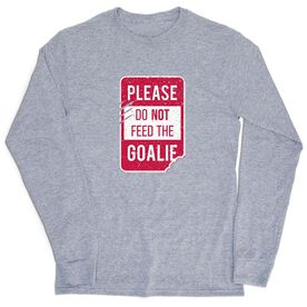 Hockey Tshirt Long Sleeve - Don't Feed The Goalie