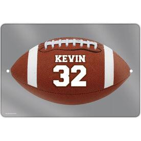 "Football Aluminum Room Sign (18""x12"") Personalized Football Photo"