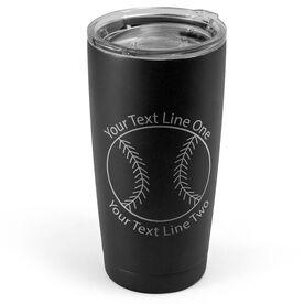 Baseball 20 oz. Double Insulated Tumbler - Icon