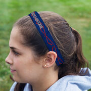 Hockey Juliband No-Slip Headband - Personalized Crossed Sticks Stripe Pattern