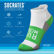 Socrates® Woven Performance Sock Run More (Lime)