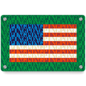 Ping Pong Metal Wall Art Panel - American Flag Mosaic